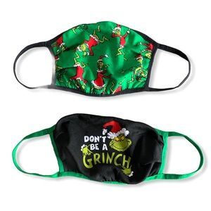New Grinch face masks 2pc.